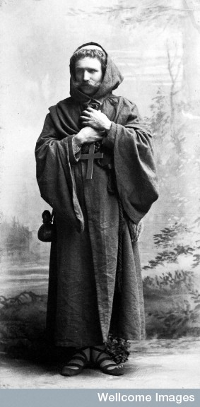 Henry Wellcome dressed as a Monk