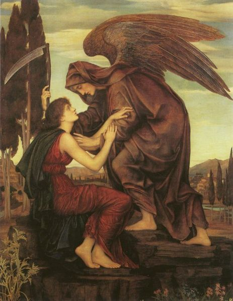 The Angel of Death by Evelyn de Morgan