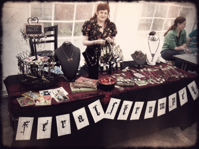 The Feral Strumpet Stall at the On the Edge Festival, Leeds