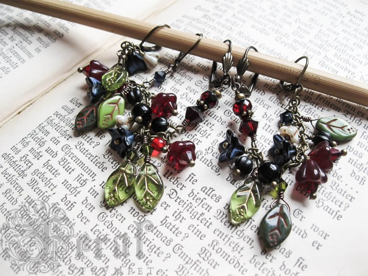 Ear Chains, a custom order inspired by illuminated manuscripts.