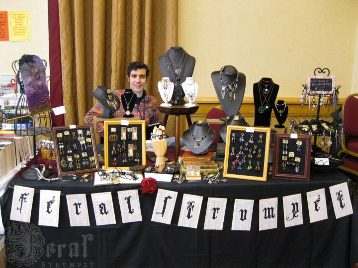 The Feral Strumpet Stall at EightSquared Con, Bradford