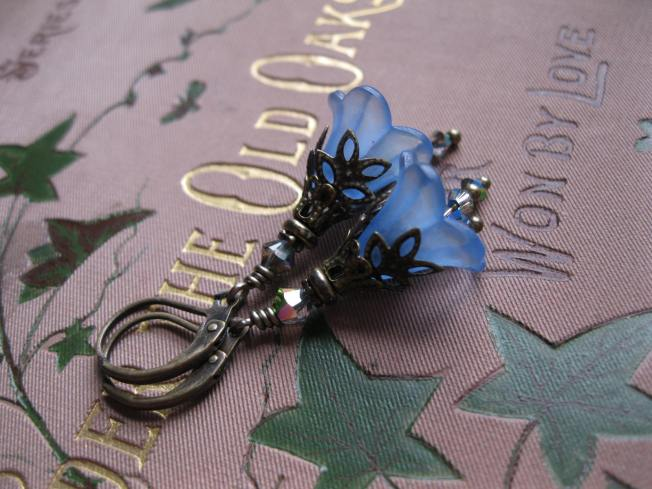 Bluebell earrings, inspired by fairy landscapes, available in my Etsy Shop