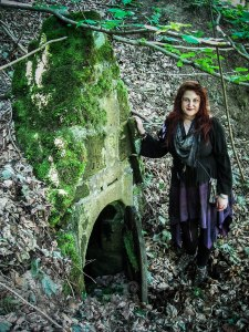 Me at the well house, St. John's Well, Mount Grace Priory