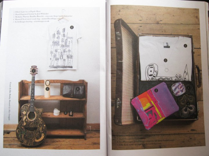 The Artisan Issue of One&Other, my Tribal Hoops are featured in the photo on the right.