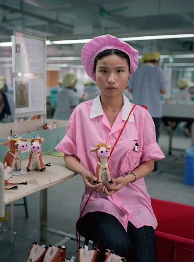 Michael Wolf's Photo of a Chinese Factory Worker