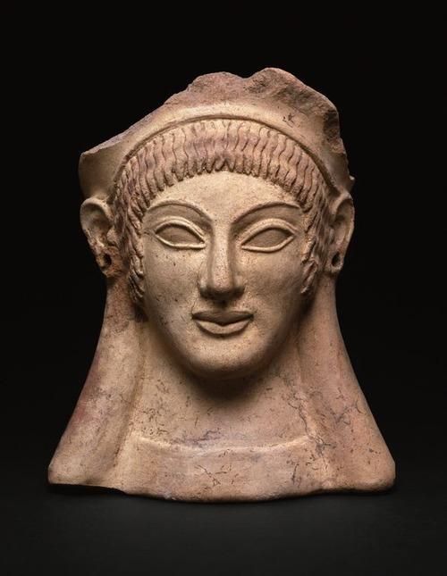 Etruscan Votive Head, 500 BC.