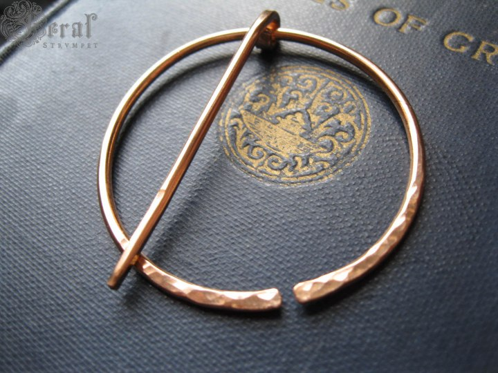 Hand-forged Anglo-Saxon Pennanular Brooch in Bronze by Feral Strumpet.