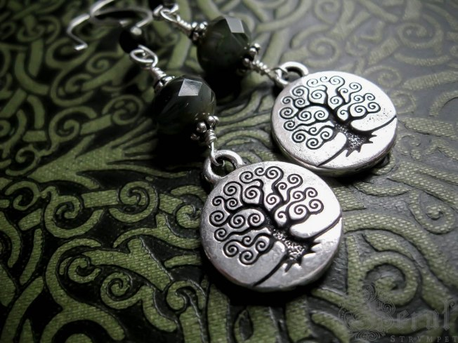 Tree of Life Earrings in silver by Feral Strumpet