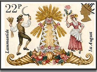 Lammas postage stamp from Red Moon Musings blog.