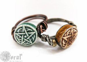 The Kitchen Witches' pentagram ring, available made in your size, in my shop.