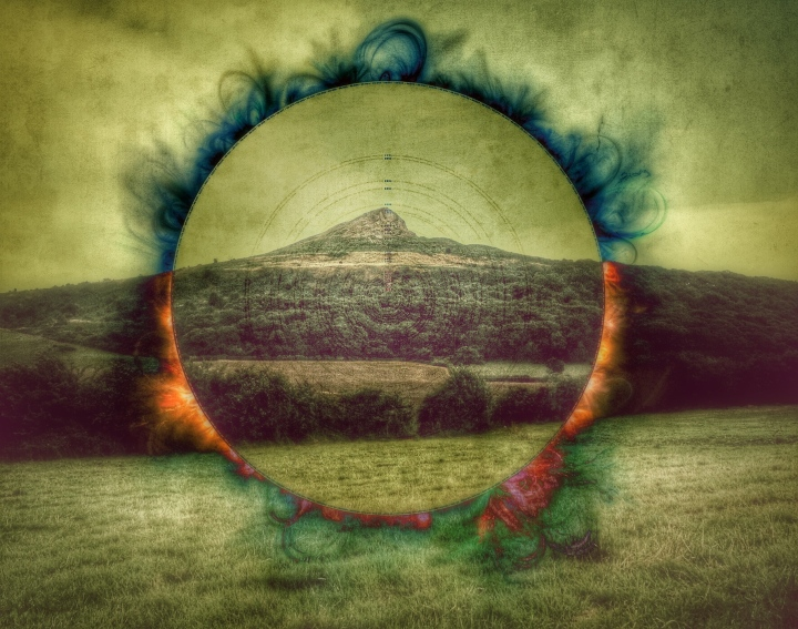 Photo of Roseberry topping taken by me, edited using Afterlight and Snapseed