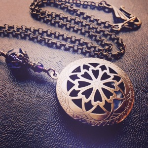 Brass Aromatherapy Locket by Feral Strumpet.