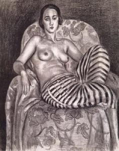 Odalisque in Striped Trousers by Henri Matisse