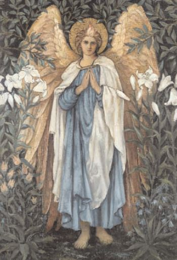 The Angel of the Annunciation by Edward Burne- Jones