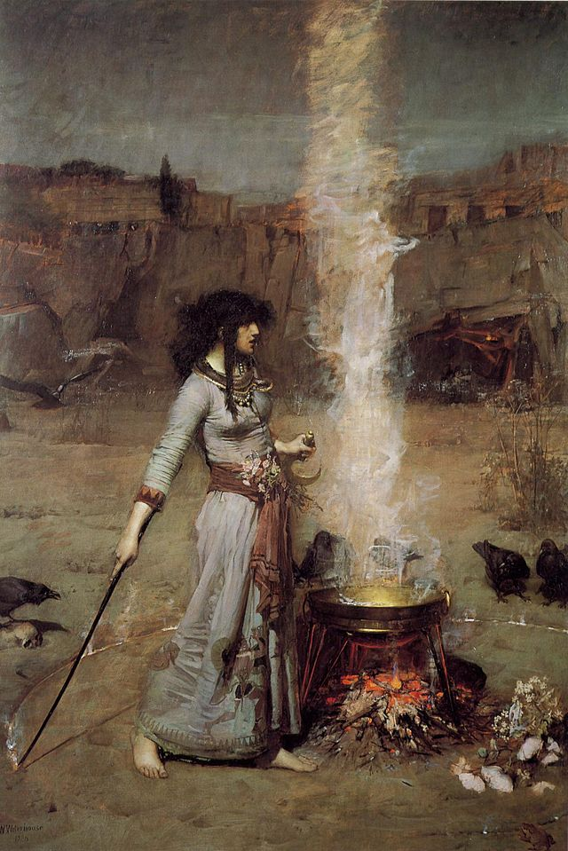 The Magic Circle by Waterhouse, my favourite Pre Raphaelite painting.