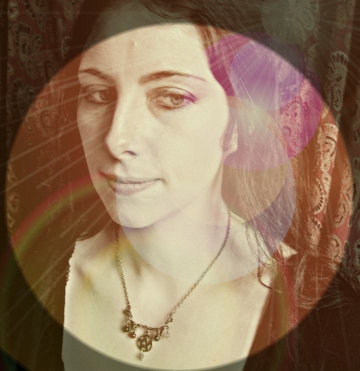 Catherine wearing the Vine of Elements Pentagram Necklace