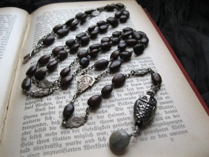 Owl and Moon Rosary