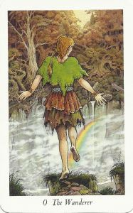 The Fool from the Wildwood Tarot Deck