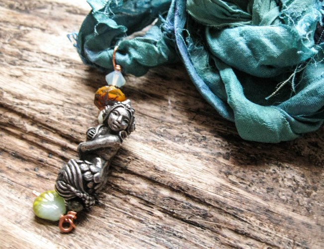 Mermaid Pendant Necklace at feralstrumpet.co.uk