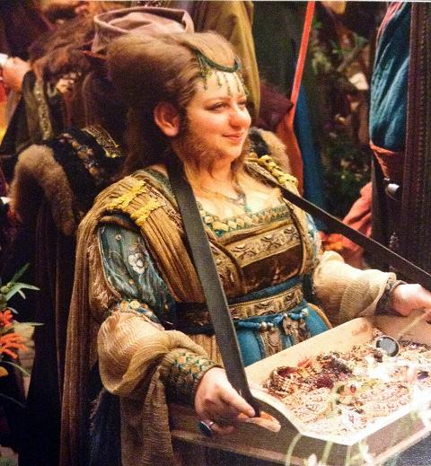 My alter-ego.  Jewellery vendor dwarf from the Hobbit film.