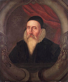 Portrait of John Dee.