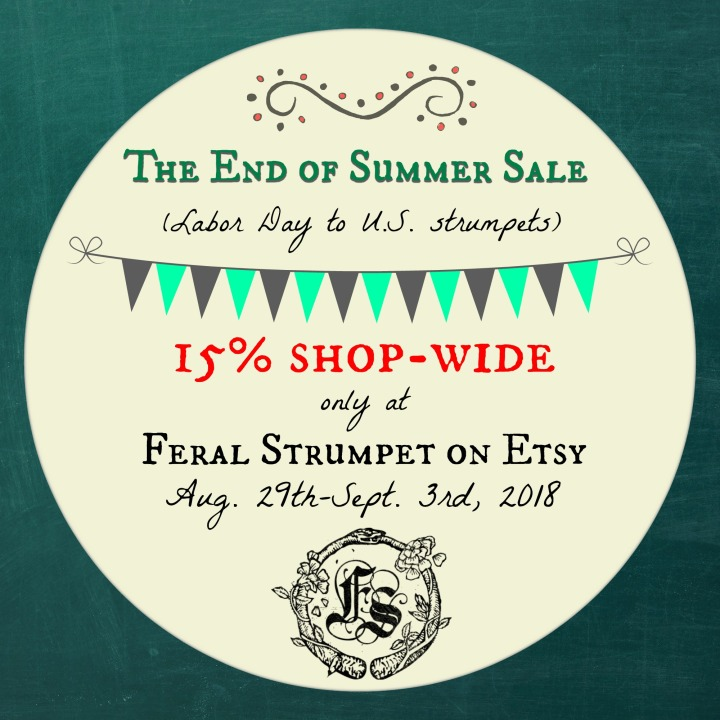 End Of Summer Labour Day Sale Feral Strumpet